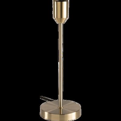 Lampe à poser en métal or brossé H40cm-DOUG