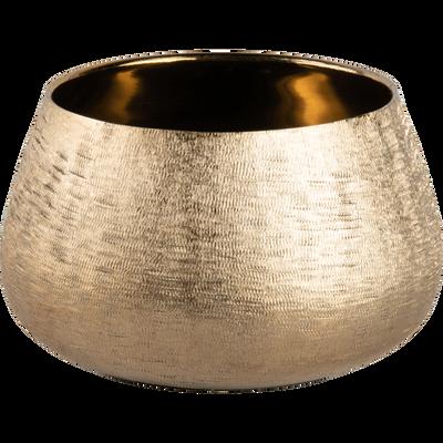 Photophore en aluminium doré D14xH8cm-MAIA