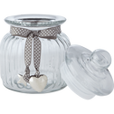 Bonbonnière en verre ruban gris 1.8L-HELENA
