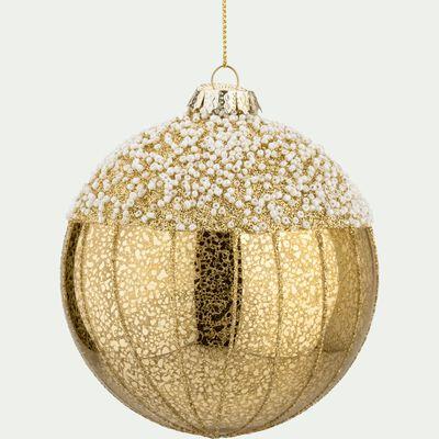 Boule de Noël en verre doré D10,5cm-TOSCA