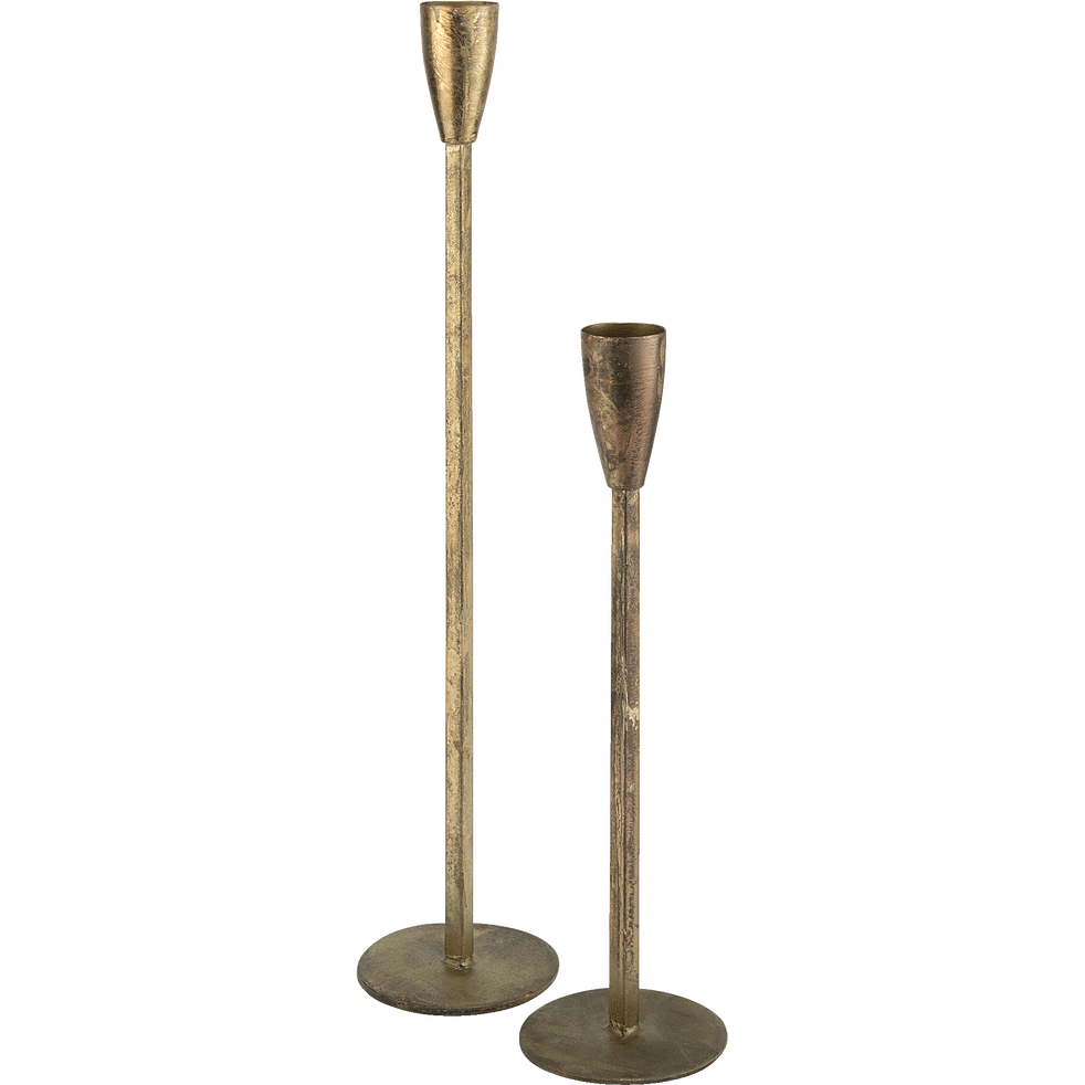 Bougeoir en métal doré H60cm-Peninsula