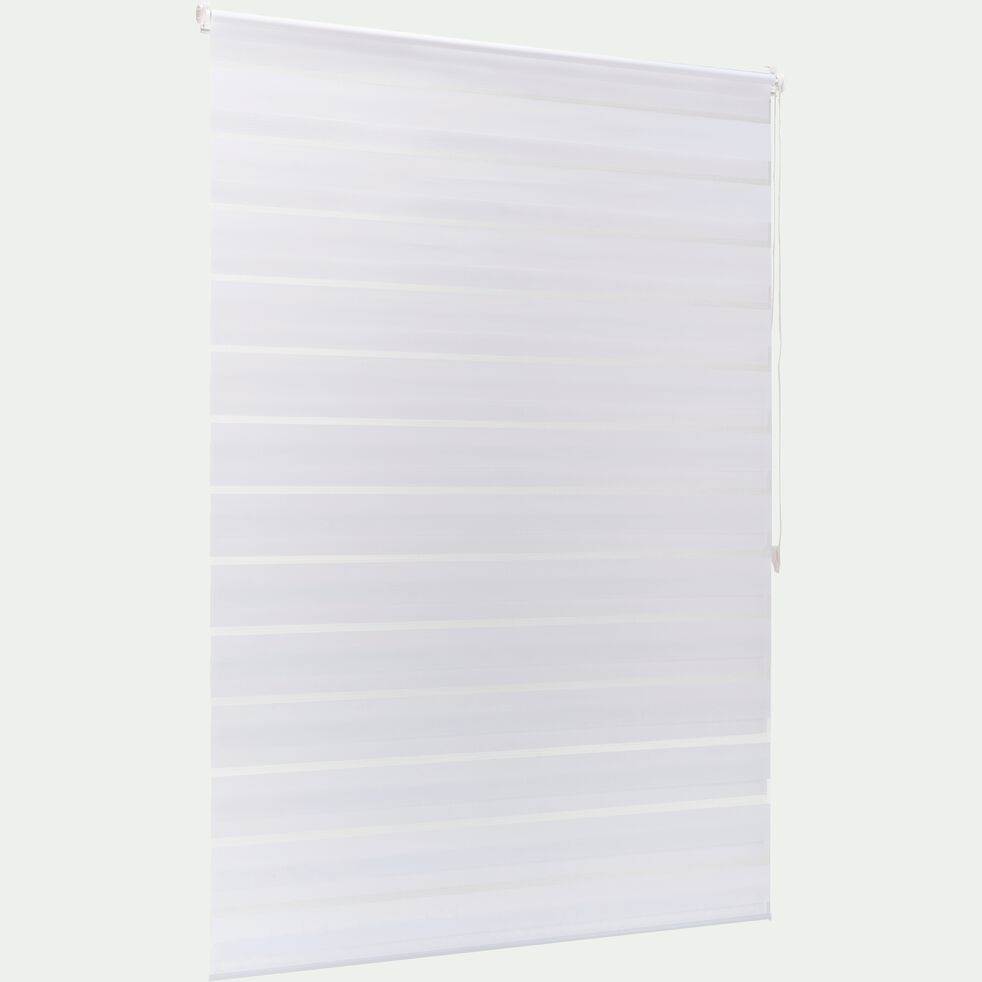 Store enrouleur tamisant blanc 122x190cm-JOUR-NUIT