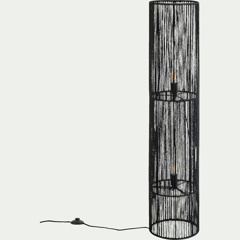 Lampe à poser cylindrique - D26xH120cm noir-CARBINI