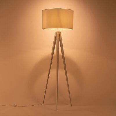 Lampadaire en métal et tissu D50xH156cm - blanc-TRIX