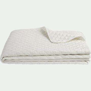 Couvre-lit en polyester effet lavé - blanc ventoux 180x230cm-THYM