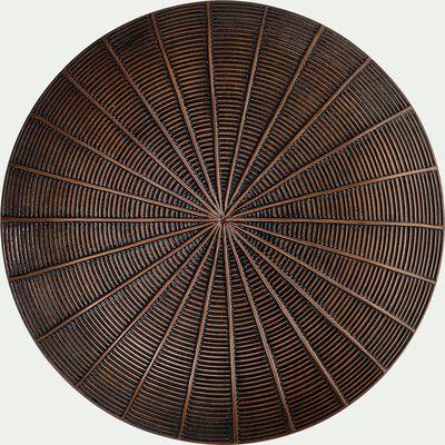 Décoration murale en polyrésine - marron D31cm-PAQUITA