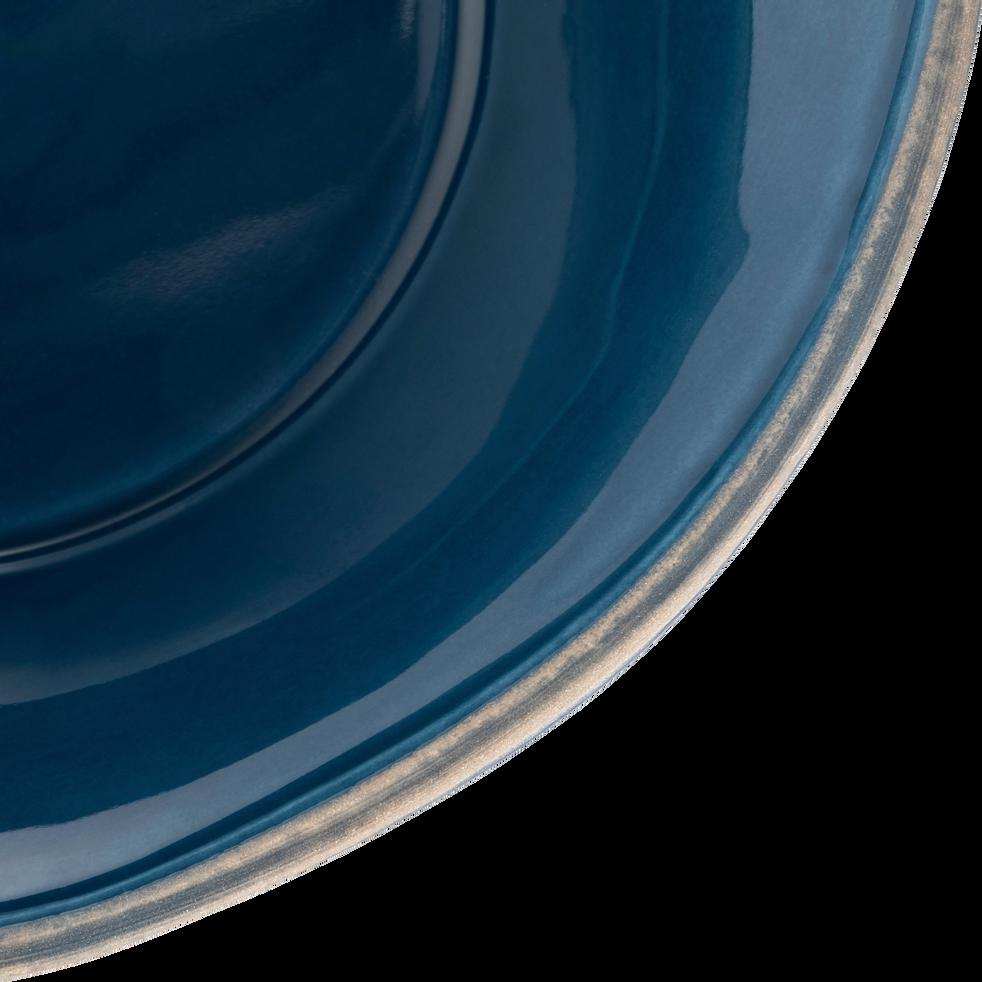 Assiette creuse en faïence bleu figuerolles D16cm-LUBERON