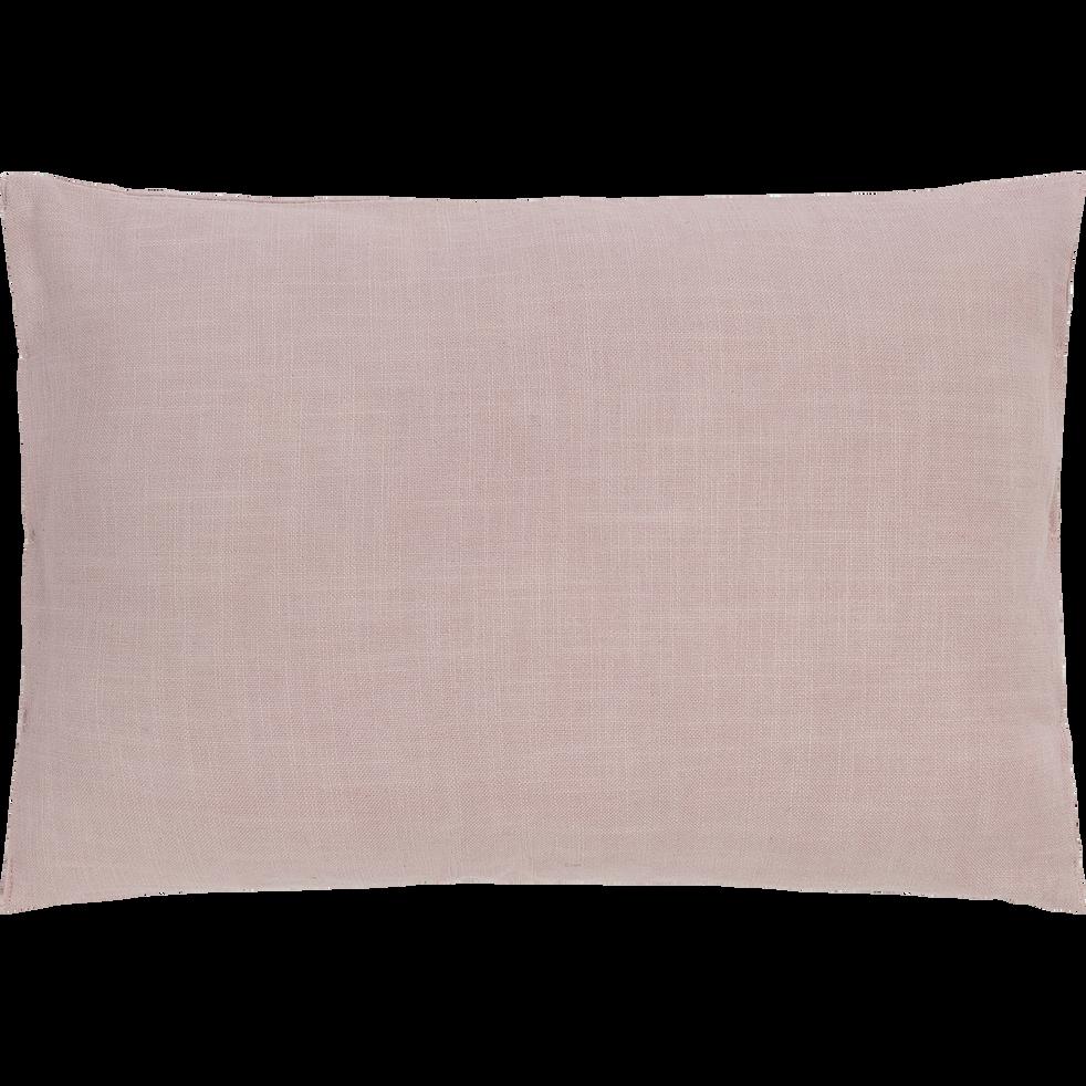 Coussin en coton rose pale 40x60cm-JELENA