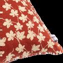 Coussin en lin rouge brique 40x40cm-FIGUIER