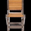 Chaise pour enfant 50x33x38cm brun châtaigner-MAXIME