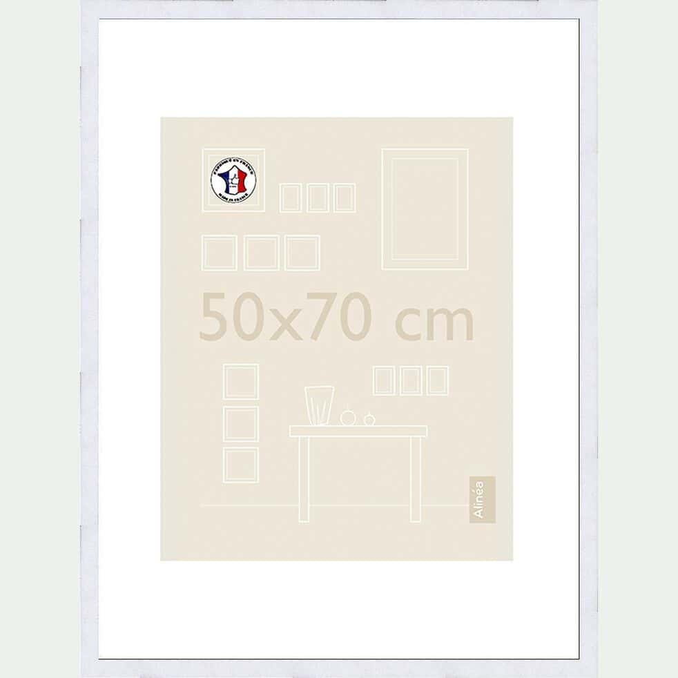 Cadre photo en bois - 50x70cm blanc-Hapa