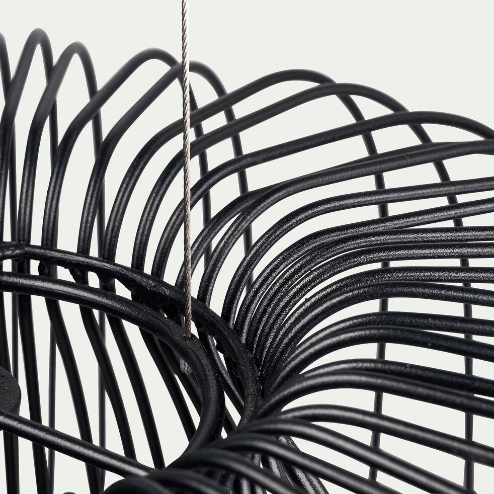 Suspension filaire en métal noir D45cm-NAPOULE