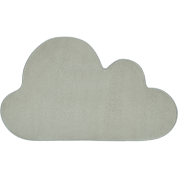 Tapis forme nuage vert olivier-MORGIOU