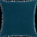 Coussin en lin lavé bleu figuerolles 45x45cm-VENCE