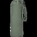 Drap housse en percale de coton Vert cèdre 140x200cm bonnet 25cm-FLORE