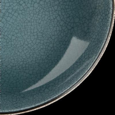 Assiette creuse en grès bleu D22cm-IMPERIA