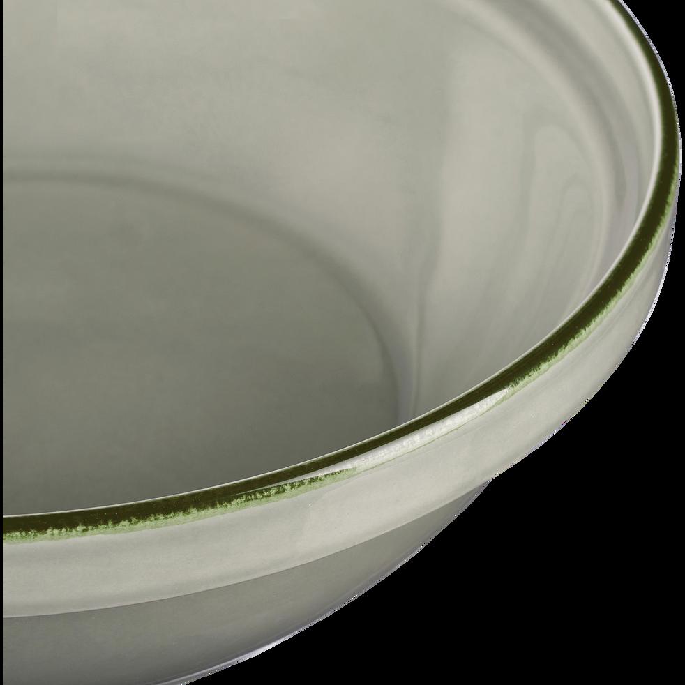 Tajine avec couvercle en faïence vert olivier-LANKA
