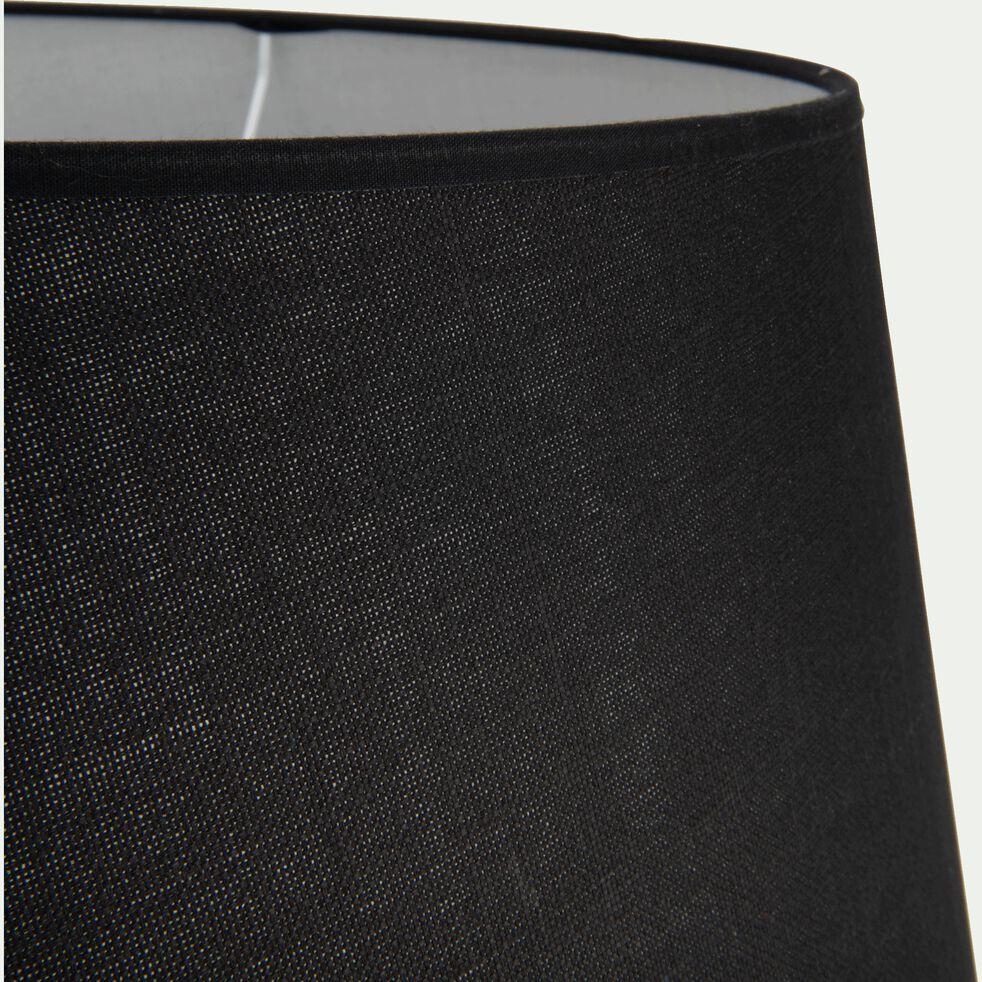 Abat-jour tambour en coton - D45cm noir-MISTRAL