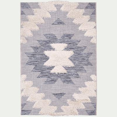 Tapis rectangulaire motifs et jeu de matières 120x170 cm-MADDIE