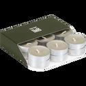 18 bougies chauffe-plats vert olivier-HALBA