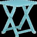 Table basse de jardin pliante bleue en acier-TED