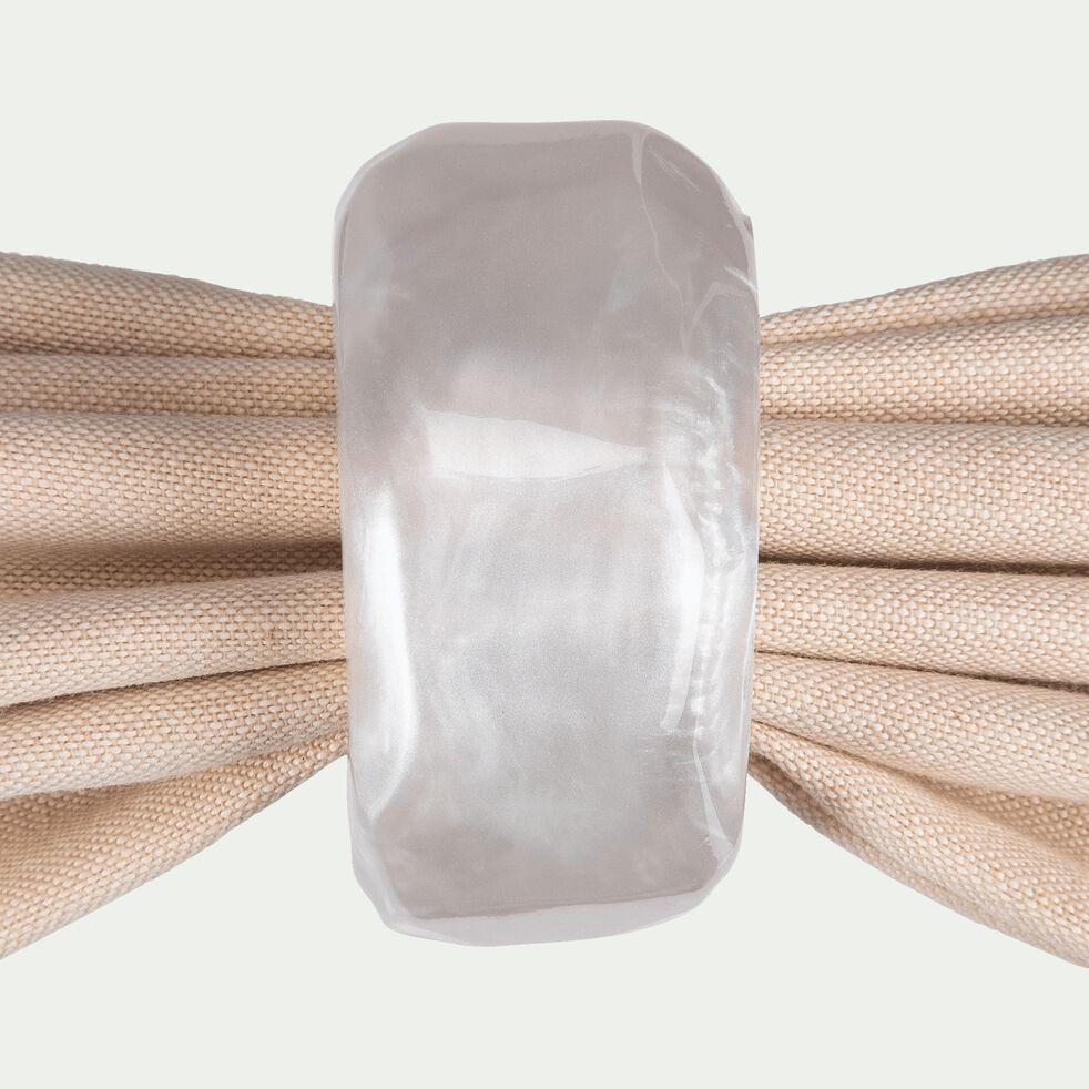 Rond de serviette en résine blanche-SETA