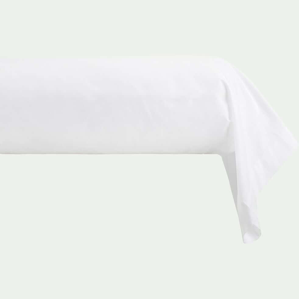 Taie de traversin en coton - blanc optique 43x125cm-CALANQUES