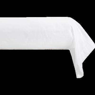 Taie de traversin en coton blanc optique 43X125cm-CALANQUES