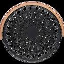 Corbeille à fruits en métal noir avec poignée en bois D25cm-PAIS