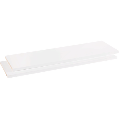 Lot de 2 tablettes coloris blanc L75cm-BIALA