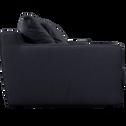 Canapé 3 places fixe en tissu gris restanque-LENITA