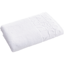 Drap de douche en coton motifs 70x140 cm blanc-BULLY