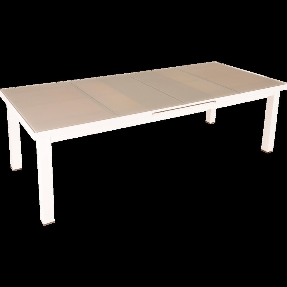 Table de jardin extensible en alu et verre trempé (6 à 10 places)-DAHLIA