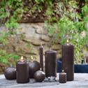 4 bougies votives ombre-HALBA