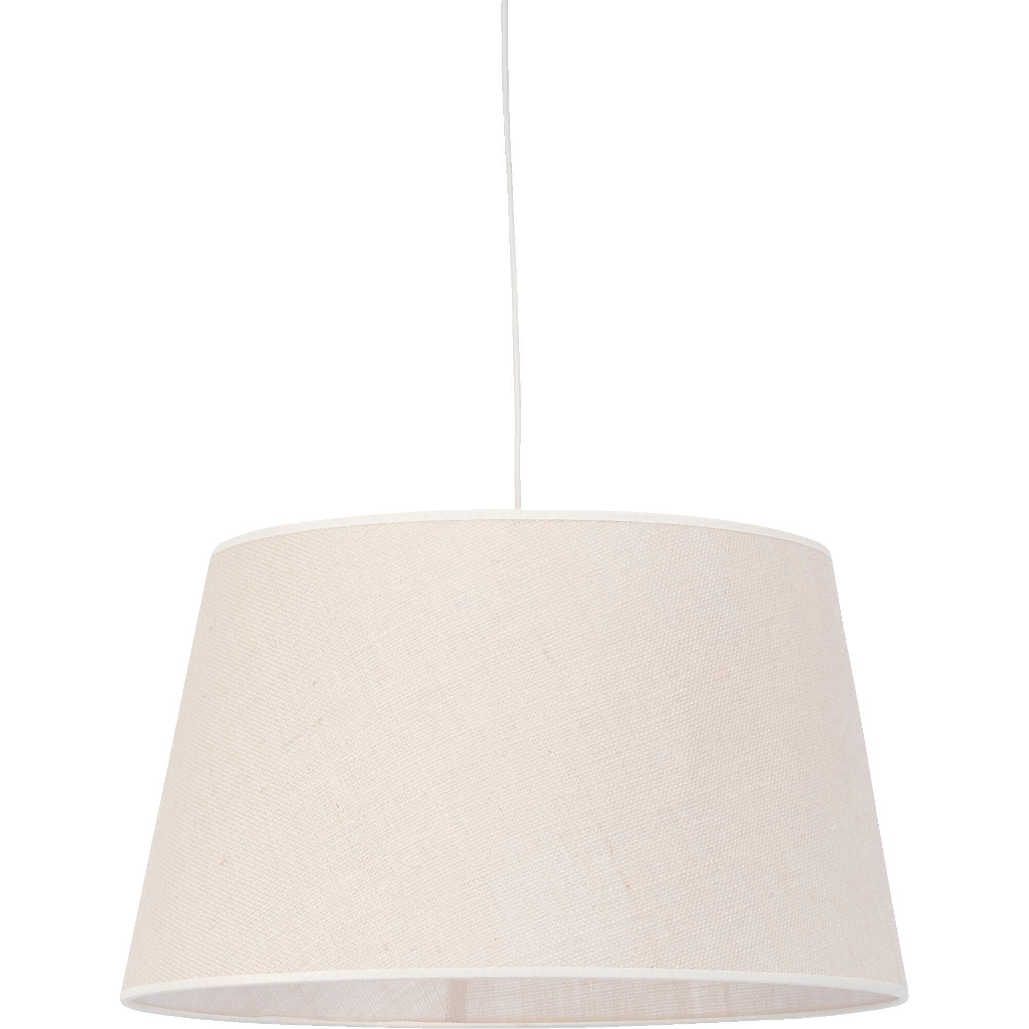 Abat-jour en jute - D45x25cm blanc écru-TRIX