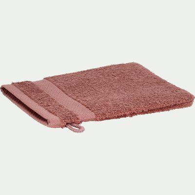 Gant de toilette en coton peigné - brun rhassoul-AZUR