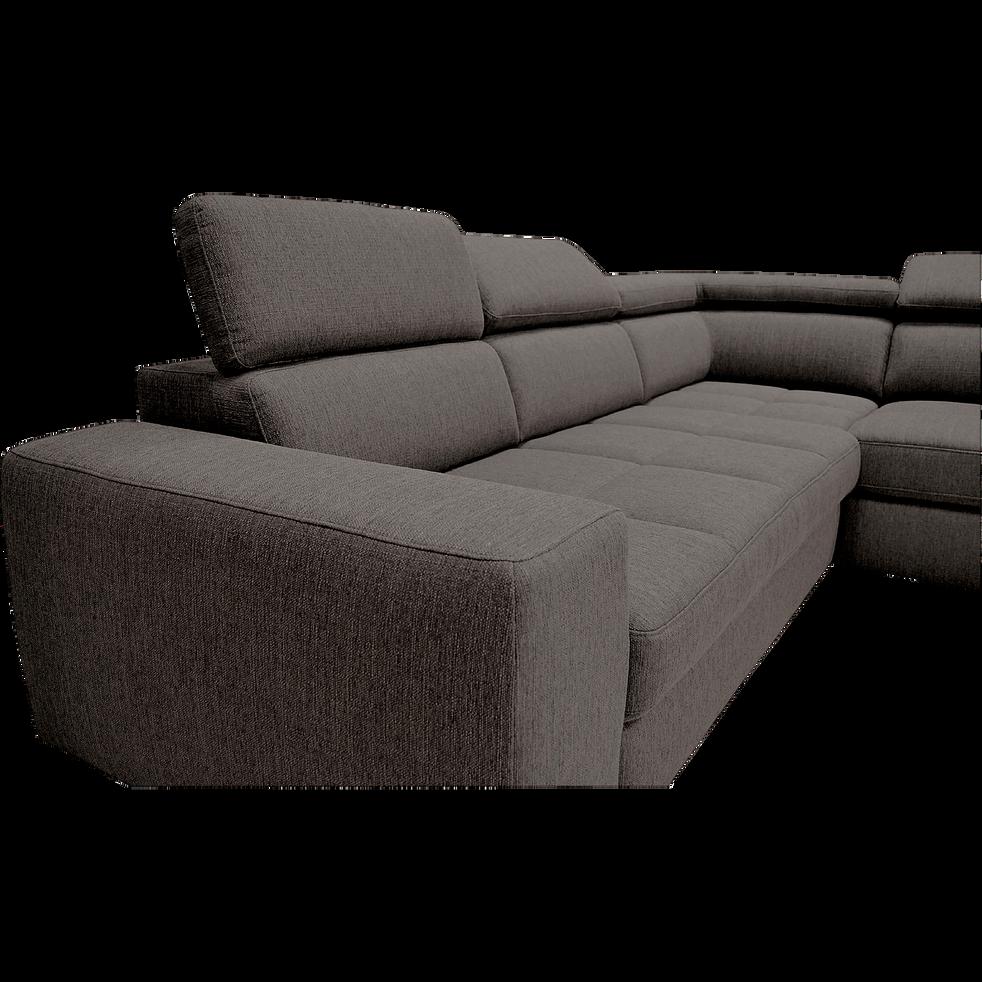 canap d 39 angle droit panoramique convertible en tissu. Black Bedroom Furniture Sets. Home Design Ideas