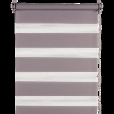 Store enrouleur tamisant épais gris 52x190cm-JOUR-NUIT