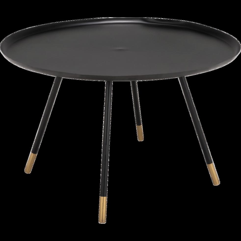 Table basse en m tal noir et dor boron tables basses Table basse metal noir