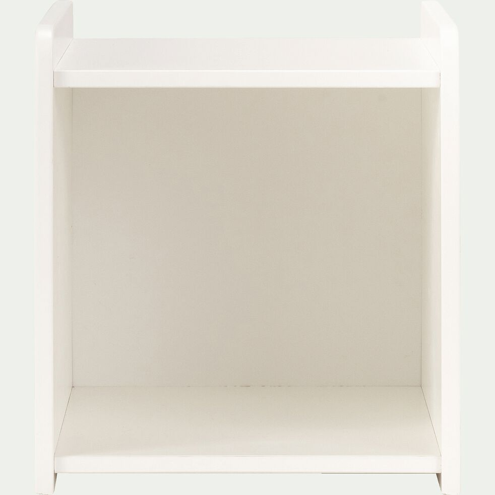 Table de chevet chambre enfant avec niche - blanc-POLLUX