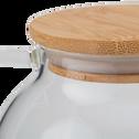 Théière verre et bouchon en bambou 0,9L-ADIJAN