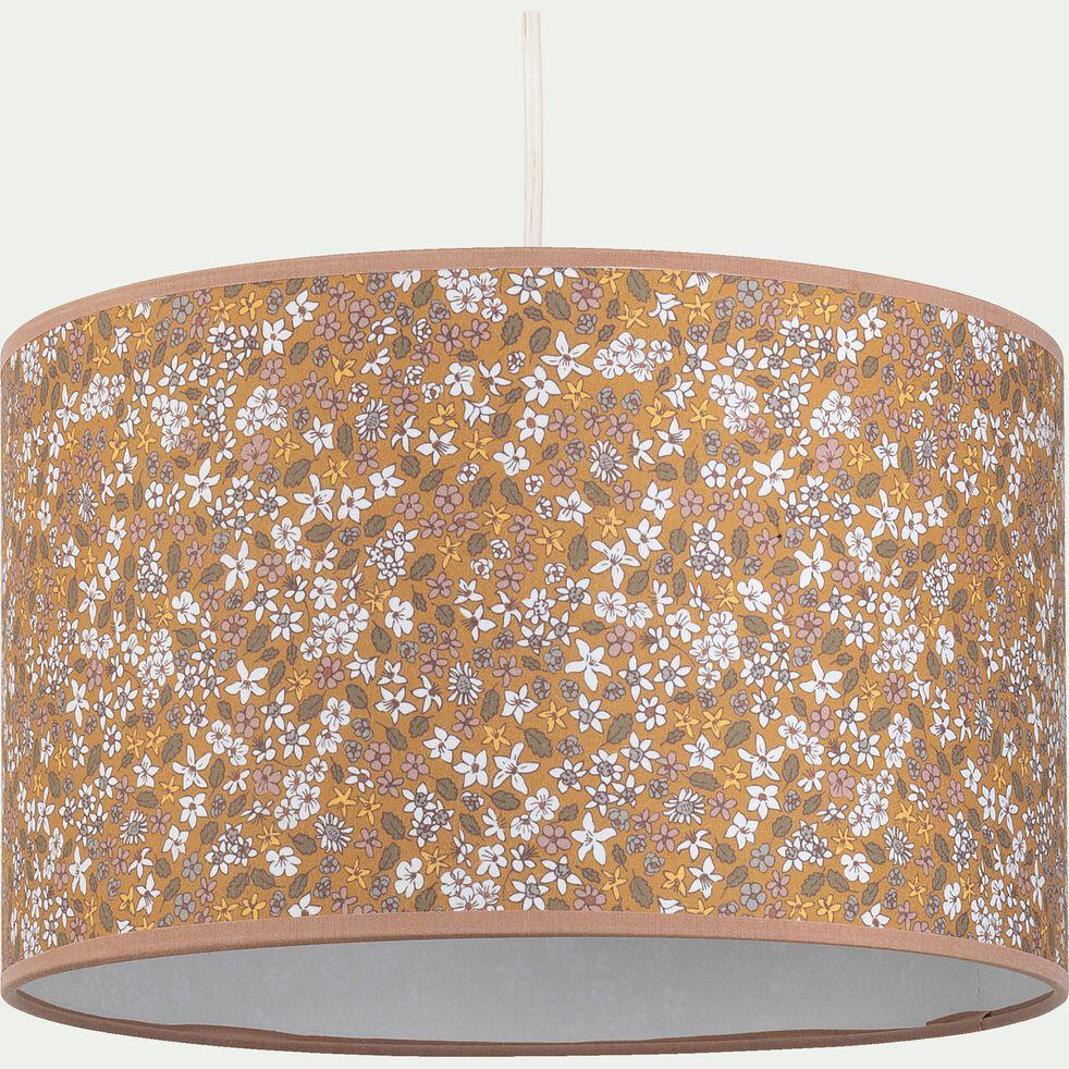 Abat-jour motif fleuri d35cm - multicolore jaune-Sigean
