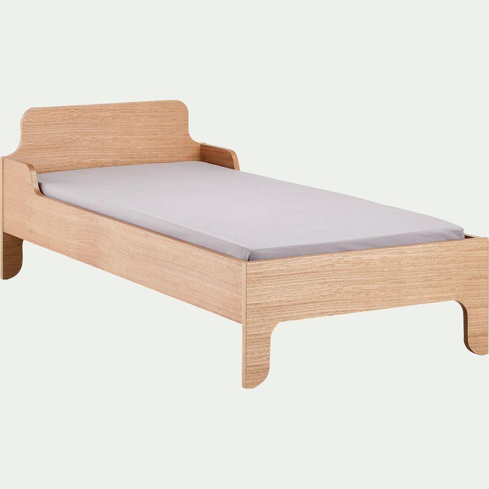 Lit 1 place enfant en bois 90x200cm - naturel-BOIO