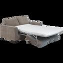 Canapé 3 places convertible en tissu café au lait-California