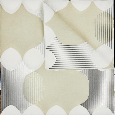 Lot de 20 serviettes en intissé beige à motifs 40x40cm-VARAZZE