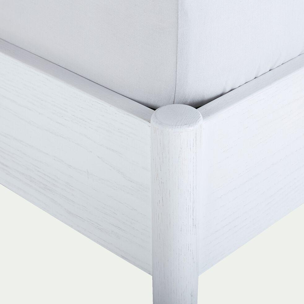 Lit en bois - 140X200CM blanc nougat-PRADO