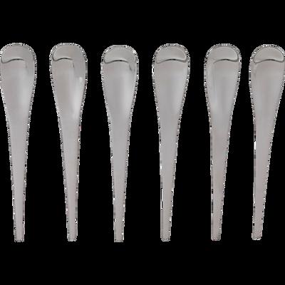 Coffret de 6 cuillères à Moka en inox-Futura