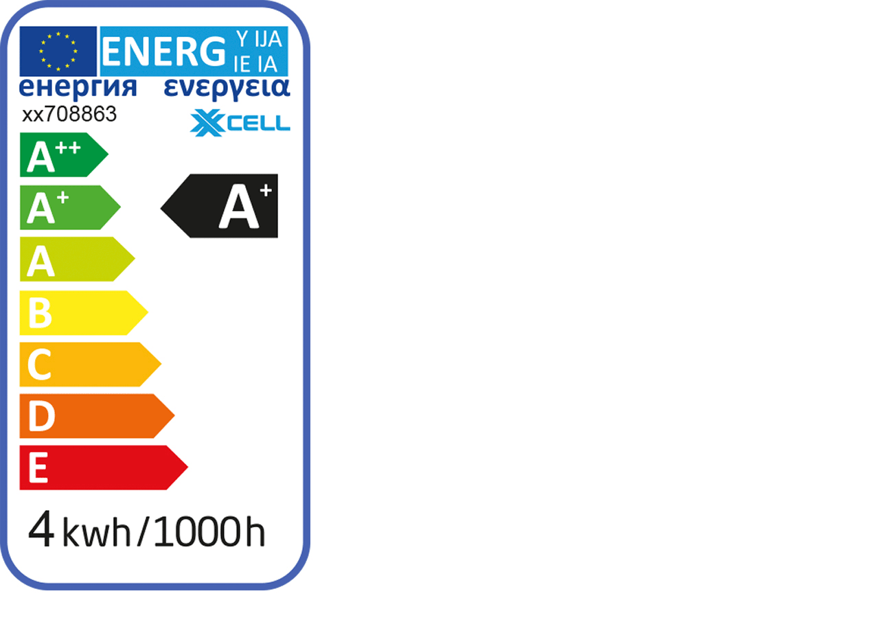 Ampoule LED décorative D9,5cm culot E27-STRIE