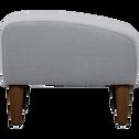 Pouf en tissu gris-LEGGY