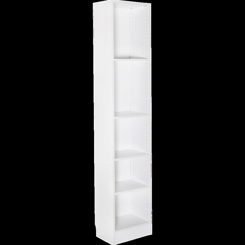 Grande bibliothèque 5 tablettes coloris blanc L40cm-Biala